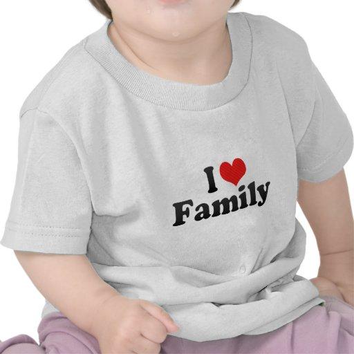 Amo a la familia camisetas