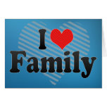 Amo a la familia tarjetas