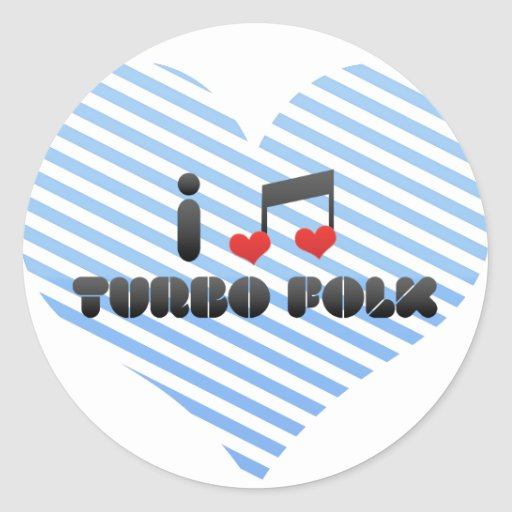 Amo a la gente de Turbo Pegatina Redonda