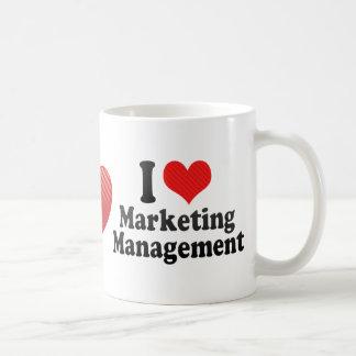 Amo a la gestión de márketing tazas
