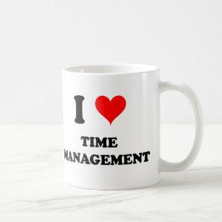 Amo a la gestión de tiempo tazas