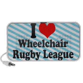 Amo a la liga del rugbi de la silla de ruedas PC altavoces
