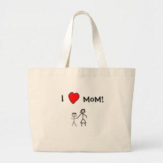 ¡Amo a la mamá! Bolsa Tela Grande