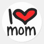 ¡Amo a la mamá! Pegatina Redonda