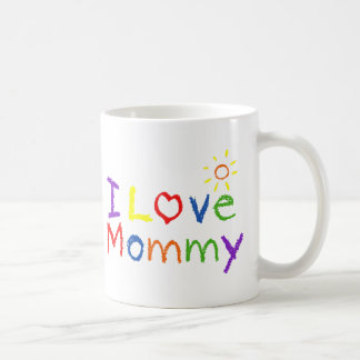 Amo a la mamá taza de café