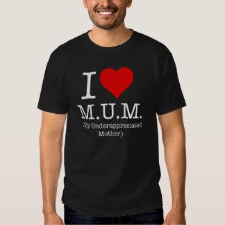 Amo a la momia (mi madre infravalorada) playera