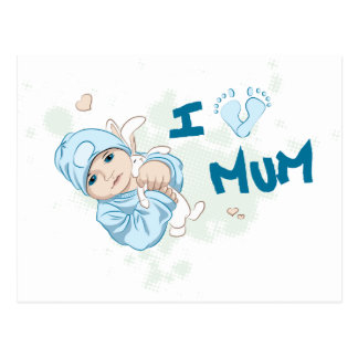 Amo a la momia - muchacho tarjeta postal