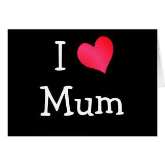 Amo a la momia tarjeta de felicitación