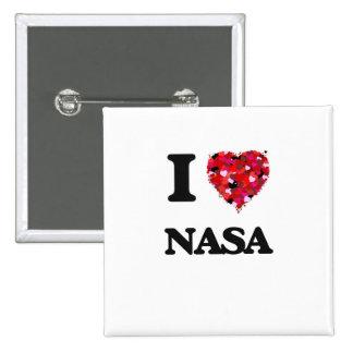 Amo a la NASA Pin Cuadrada 5 Cm