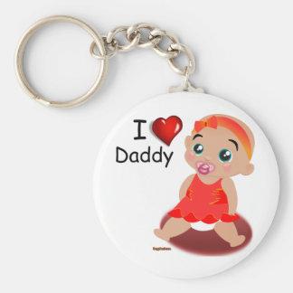 Amo a la niña del papá llavero redondo tipo pin