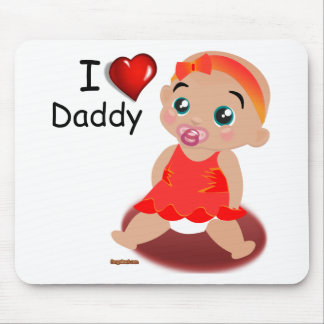 Amo a la niña del papá tapete de raton