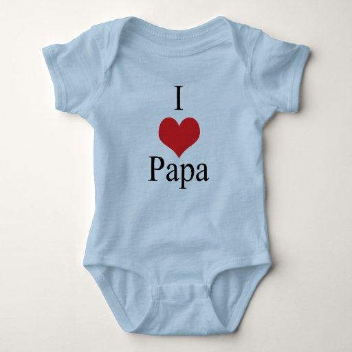 Amo a la papá (del corazón) remeras