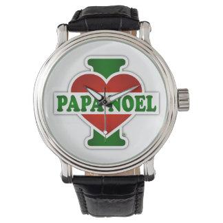Amo a la papá Noel Reloj De Mano