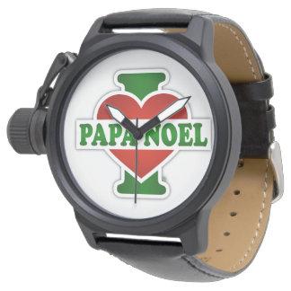 Amo a la papá Noel Relojes De Pulsera