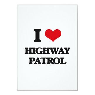 """Amo a la patrulla de la carretera invitación 3.5"""" x 5"""""""
