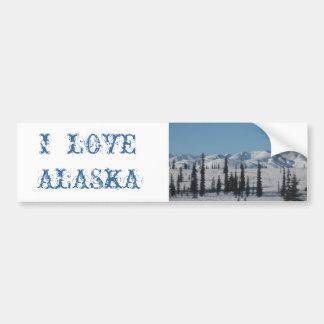 AMO a la pegatina para el parachoques de ALASKA Pegatina Para Auto