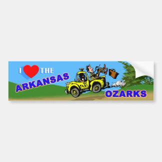 Amo a la pegatina para el parachoques de Arkansas  Pegatina Para Auto