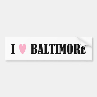 Amo a la pegatina para el parachoques de Baltimore Pegatina Para Auto