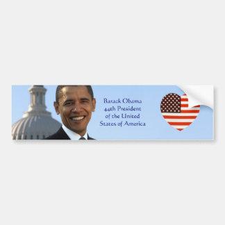 Amo a la pegatina para el parachoques de Barack Ob Etiqueta De Parachoque