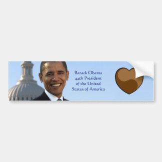Amo a la pegatina para el parachoques de Barack Ob Pegatina De Parachoque