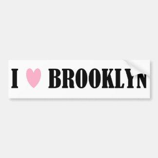 Amo a la pegatina para el parachoques de Brooklyn Pegatina Para Auto