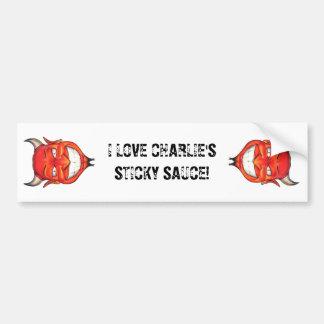 Amo a la pegatina para el parachoques de Charlies Pegatina Para Auto