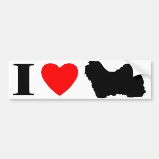 Amo a la pegatina para el parachoques de Havanese Pegatina De Parachoque