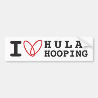 Amo a la pegatina para el parachoques de Hula Hoop Pegatina Para Auto