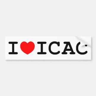 Amo a la pegatina para el parachoques de ICAC Pegatina Para Auto