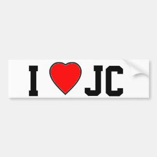 Amo a la pegatina para el parachoques de J C Pegatina De Parachoque