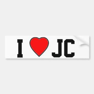 Amo a la pegatina para el parachoques de J C Pegatina Para Auto