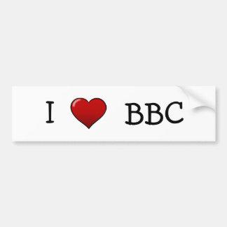 Amo a la pegatina para el parachoques de la BBC Pegatina Para Auto