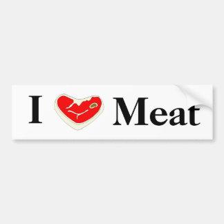 Amo a la pegatina para el parachoques de la carne pegatina para auto