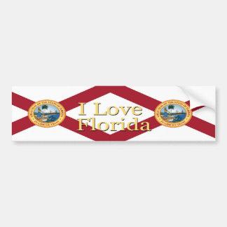 Amo a la pegatina para el parachoques de la Florid Pegatina Para Auto