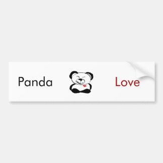 ¡Amo a la pegatina para el parachoques de la panda Etiqueta De Parachoque