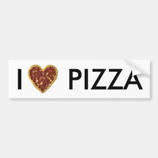 Amo a la pegatina para el parachoques de la pizza pegatina para auto
