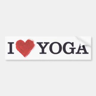 Amo a la pegatina para el parachoques de la yoga pegatina para auto