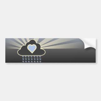 Amo a la pegatina para el parachoques de las nubes pegatina para auto