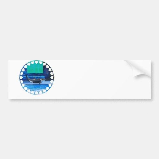 Amo a la pegatina para el parachoques de las orcas pegatina para auto