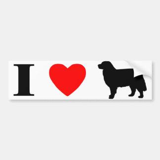 Amo a la pegatina para el parachoques de los perro etiqueta de parachoque