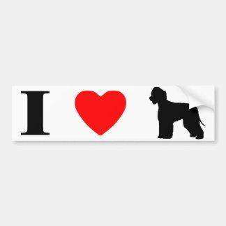 Amo a la pegatina para el parachoques de los perro pegatina para auto