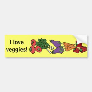 Amo a la pegatina para el parachoques de los Veggi Pegatina Para Auto