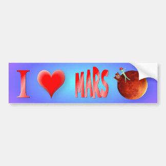 Amo a la pegatina para el parachoques de Marte Pegatina Para Auto