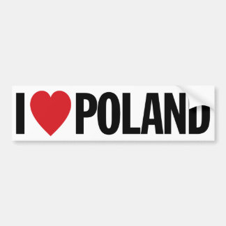 Amo a la pegatina para el parachoques de Polonia Pegatina Para Auto