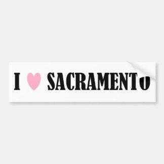 Amo a la pegatina para el parachoques de Sacrament Pegatina Para Auto