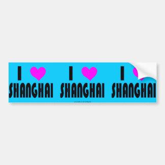 Amo a la pegatina para el parachoques de Shangai C Pegatina De Parachoque