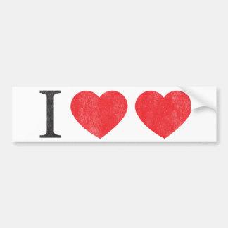 Amo a la pegatina para el parachoques del amor etiqueta de parachoque