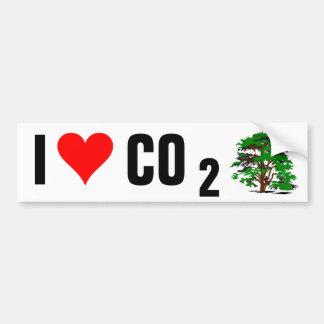 Amo a la pegatina para el parachoques del CO2 Etiqueta De Parachoque