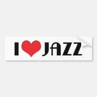 Amo a la pegatina para el parachoques del jazz pegatina para auto