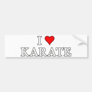 Amo a la pegatina para el parachoques del karate pegatina para auto